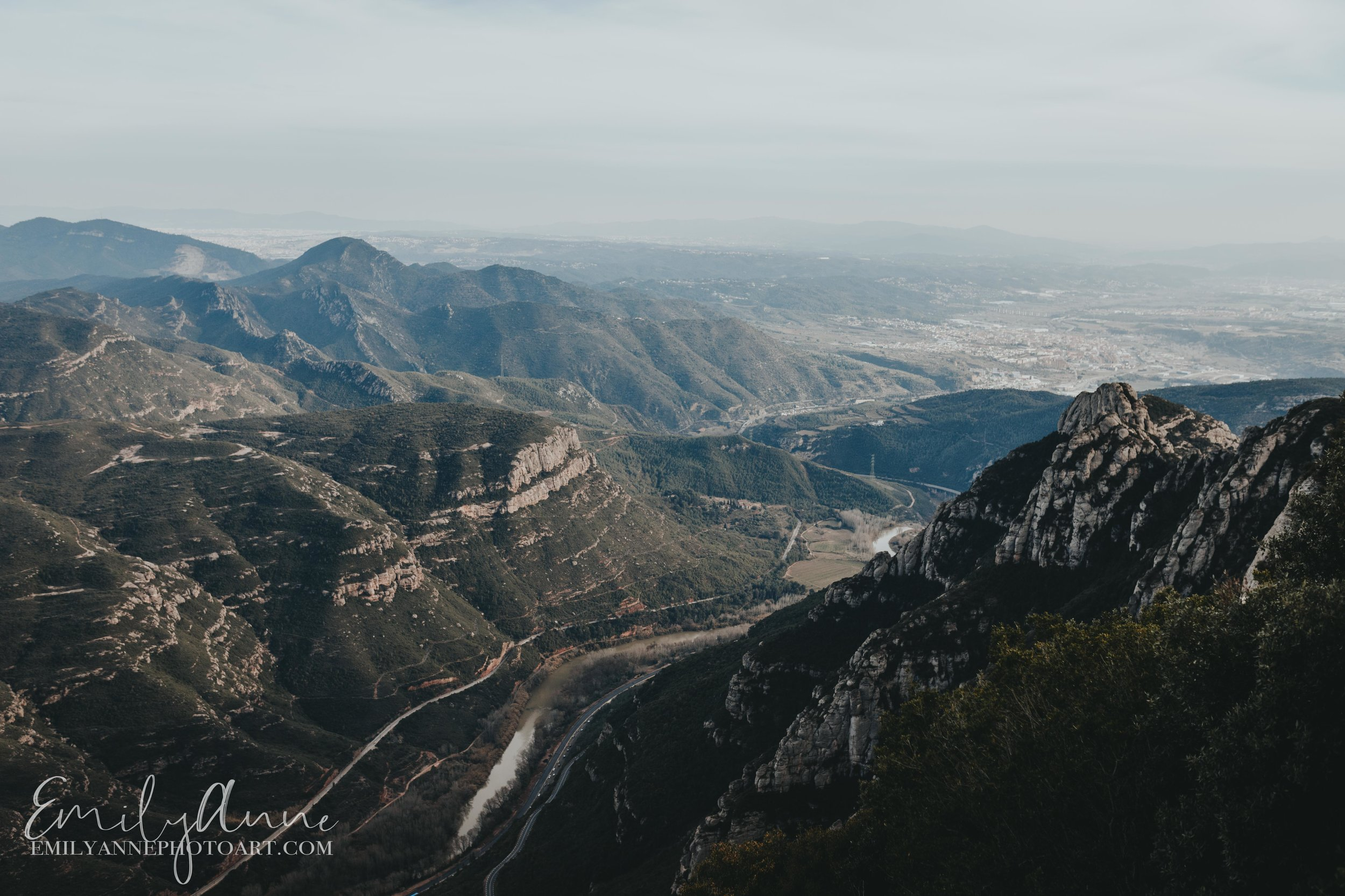 hike till the cross of Montserrat; places to visit when you're in Barcelona; day trips
