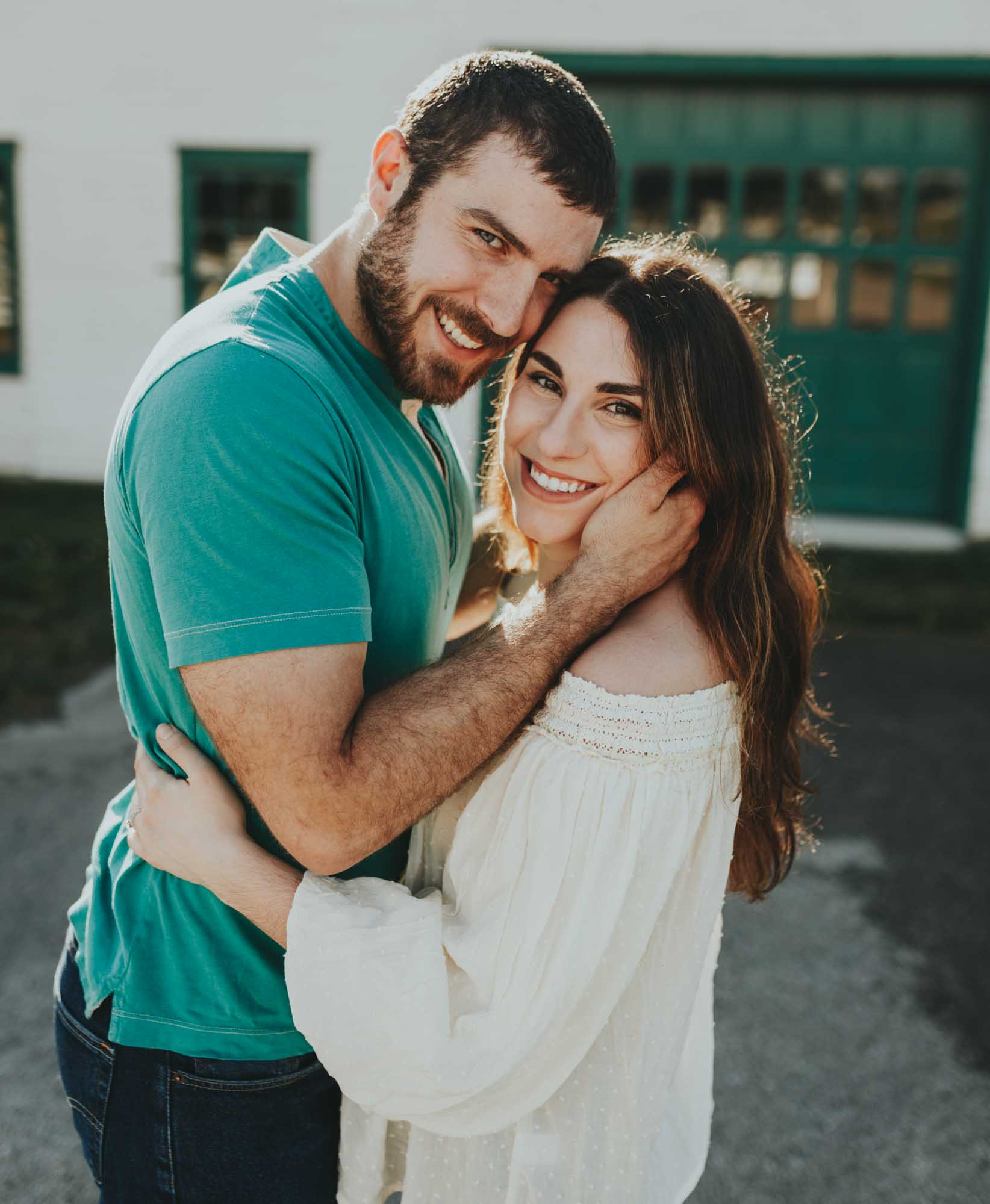 Best engagement session shot at the factory in Franklin TN by top wedding photographer Emily Anne