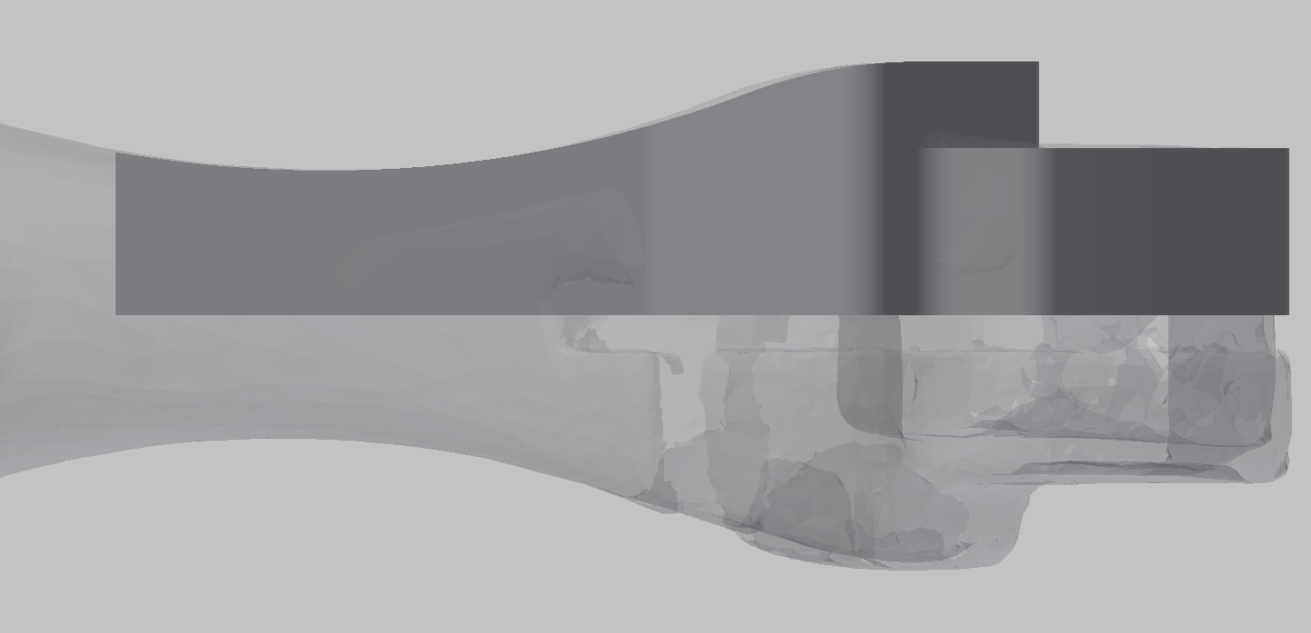 3D scanned bike handle, surprisingly well aligned