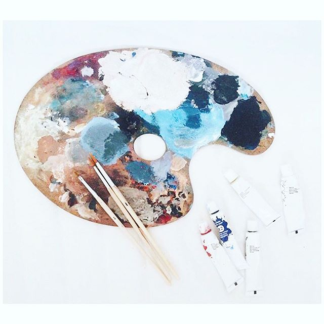 right now my life feels about as messy as this palette... but it also feels pretty great ✨ i've been a mad woman making art vigorously for months, prepping for multiple shows and commission work in between AND working on a top secret project that i haven't yet shared on here... it's been a heavy workload, but it's also been what i've been working hard for the last couple years. i feel so blessed to have a career that makes me feel so fulfilled, even when i feel crazy busy, stressed or like a total mess... 🖤 STAY TUNED for some big news i'll be sharing with you this week!