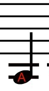 This A note is played on the G string with a 1st Finger