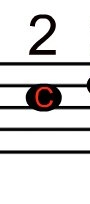 This is what a C Note on the A string will Look Like, Play it with your 2nd finger.