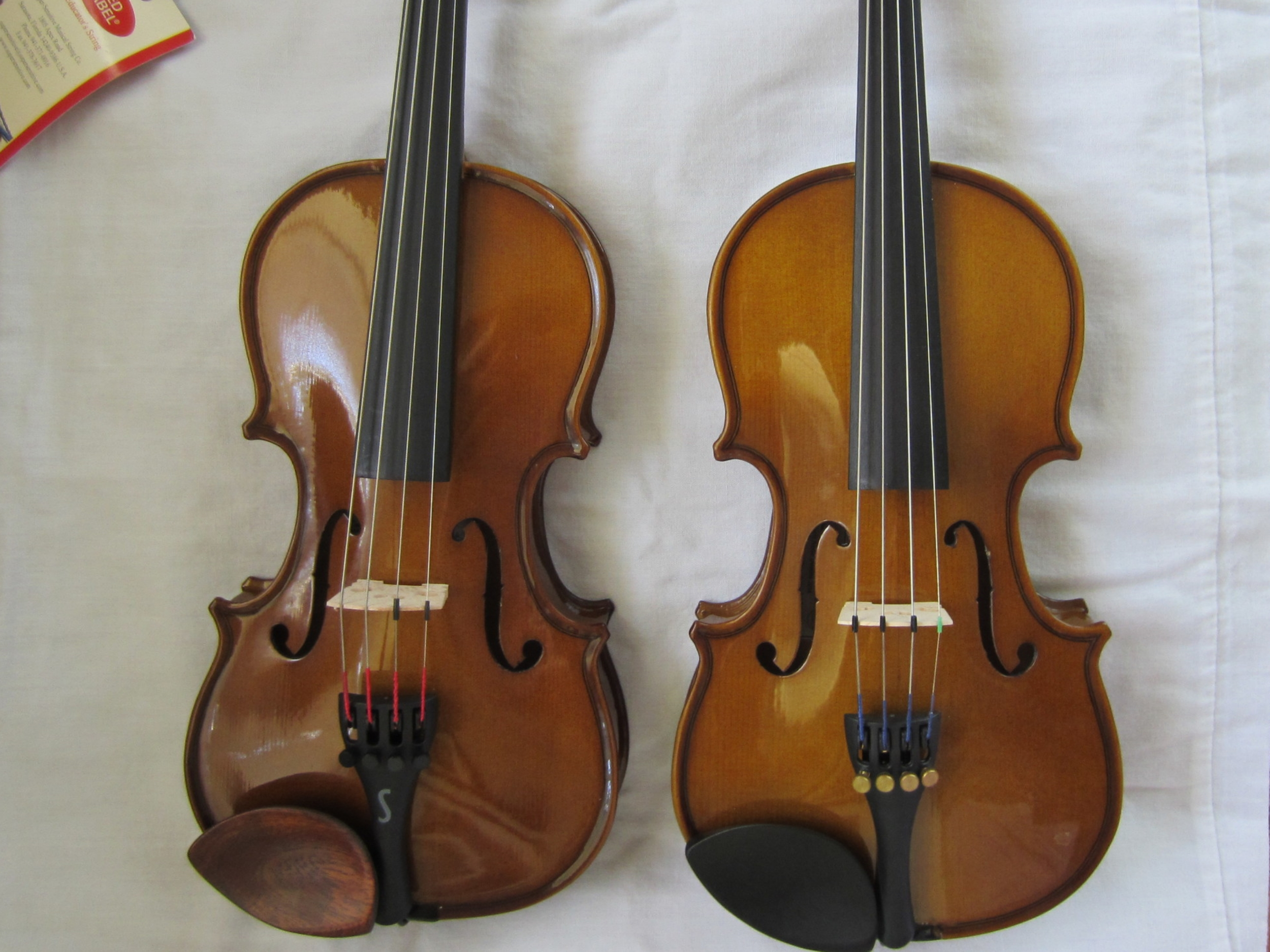 Cremona and Stentor Violins