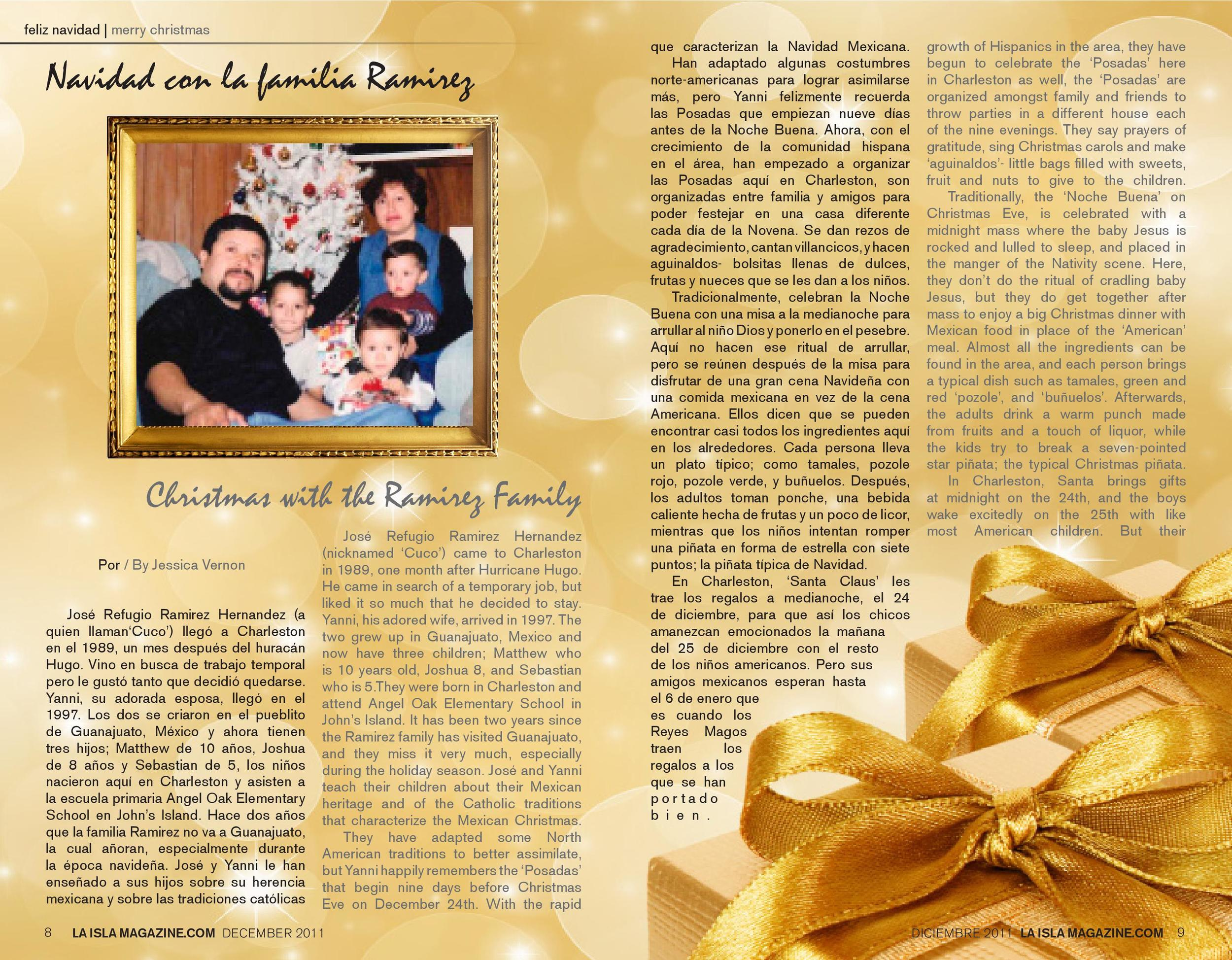 Diciembre, 2011: Navidad con la Familia Ramírez