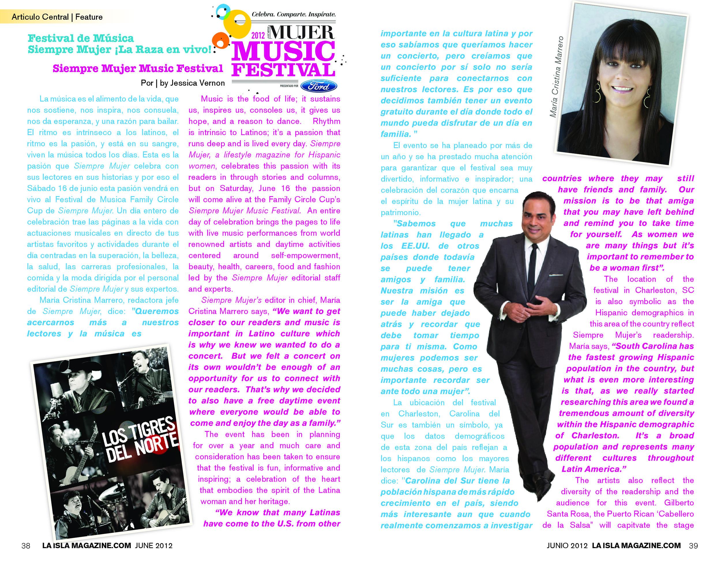 Junio, 2012: Simply Mujer Music Festival