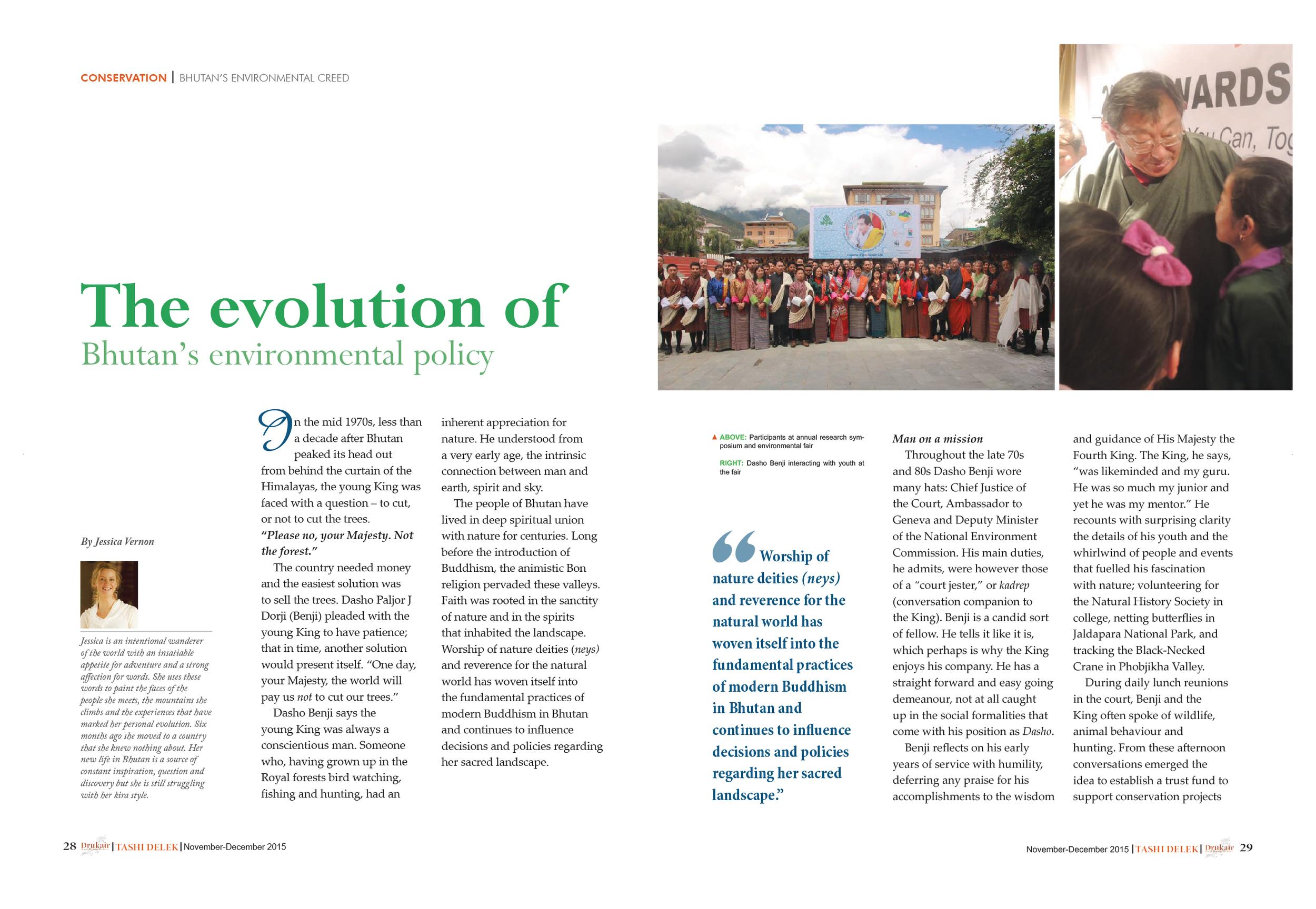 Nov/Dec. 2015: Evolution of Bhutan's Environmental Policy