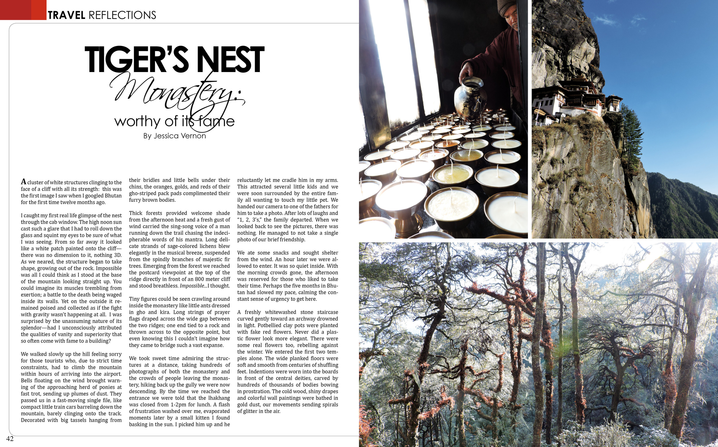 April/May 2015: Tiger's Nest, Worthy of its Fame