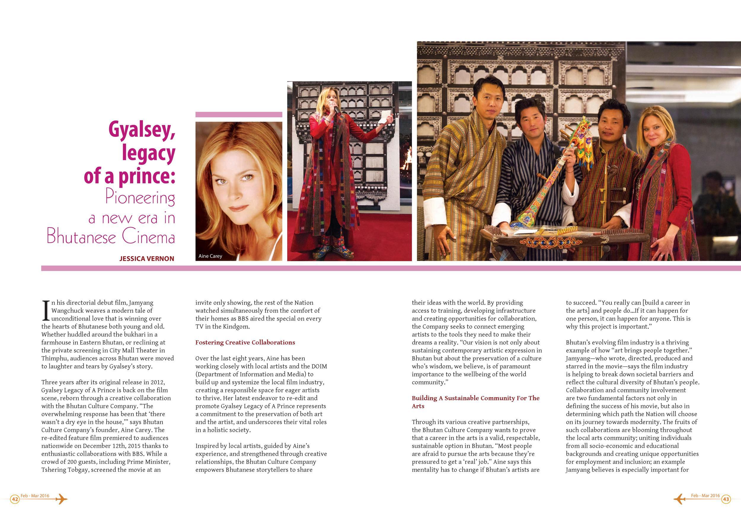 Feb./March 2016: Pioneering a New Era in Bhutanese Cinema