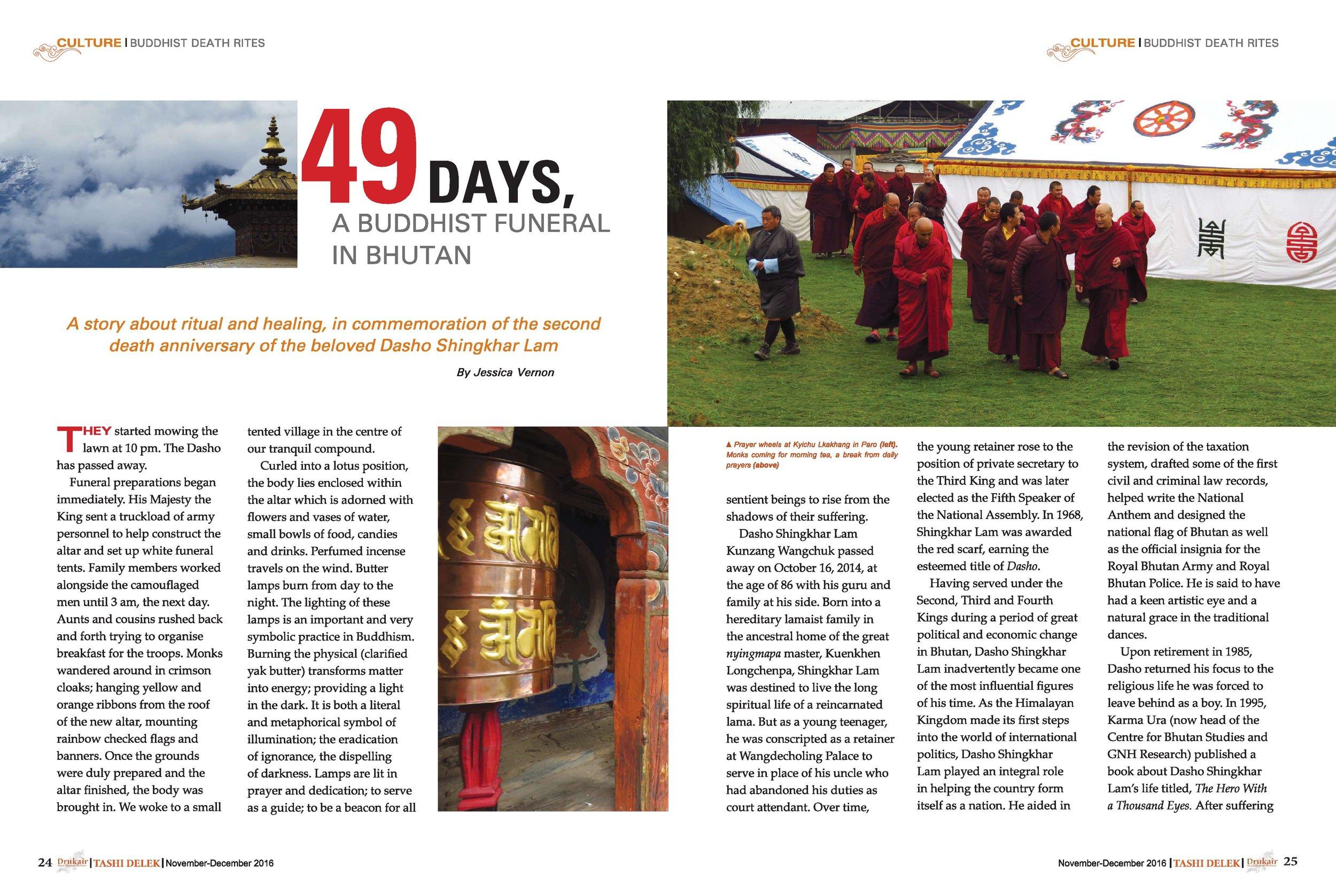 Dec. 2016: 49 Days, a Buddhist Funeral in Bhutan