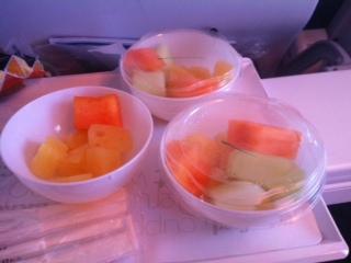 Airplane fruit platter