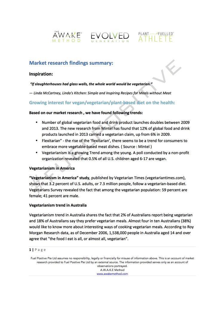 Plant-based market research