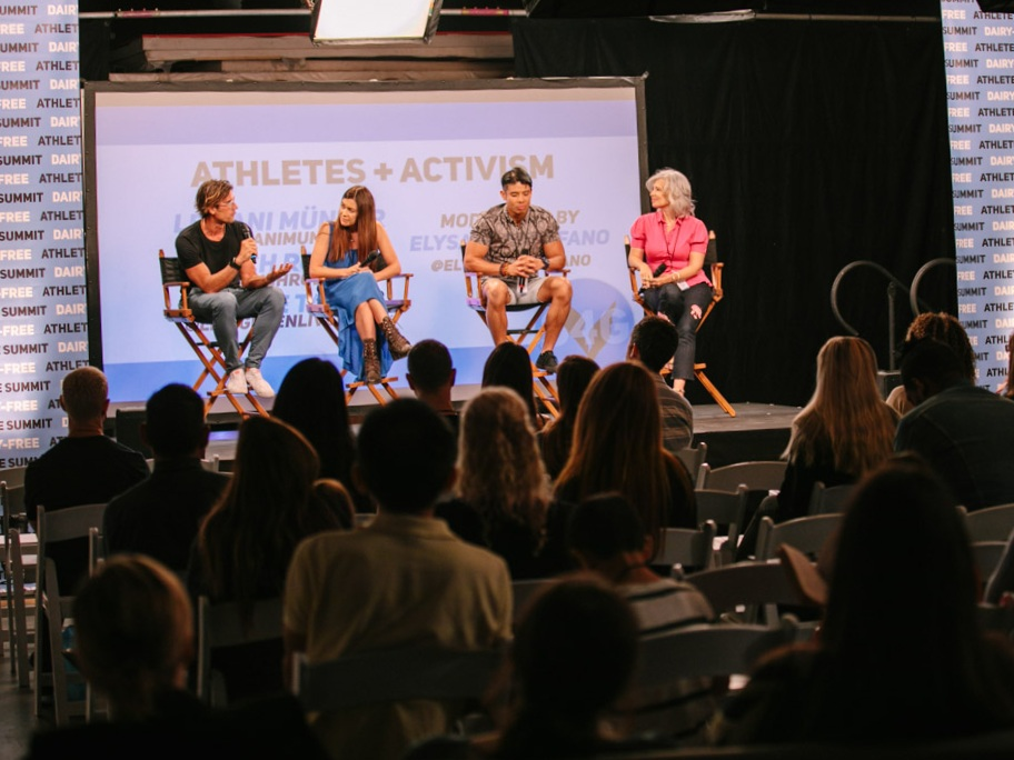 Athlete activism panel at the Switch 4 Good Summit, Los Angeles