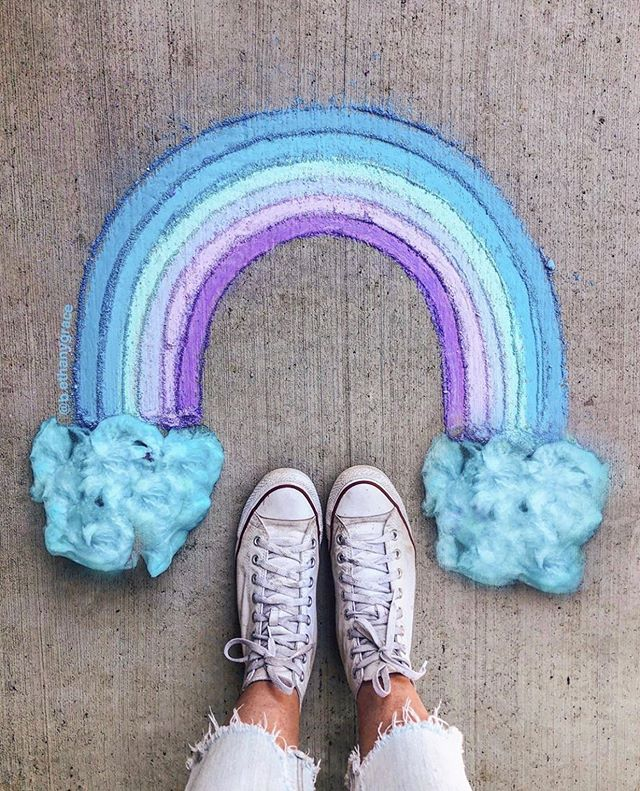a cotton candy rainbow by @b.ethanygrace ✨