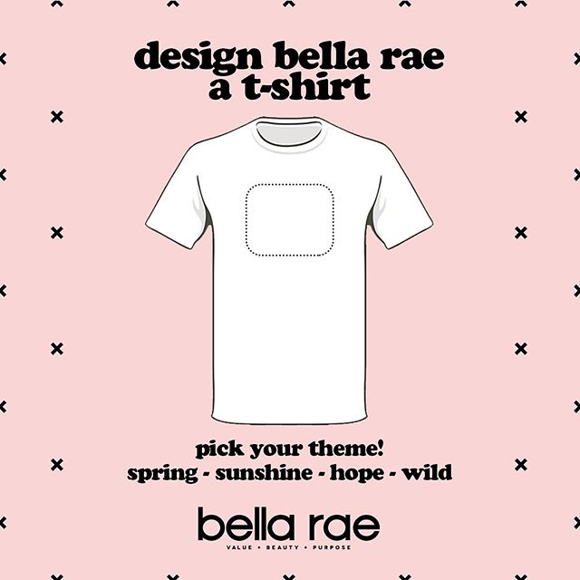 🌸 COMPETITION TIME 🌸  Win $100 and your design on a bella rae branded t-shirt! Yippee!   GUIDELINES  • One colour only (black or white is grand too) • Image only preferred, no text (although we can be persuaded) • Vector preferable  • Design must fit within 18cm by 18cm if square* or 20cm by 20cm if round* (can be resized if needed)   Send through to hello@bellaraemag.com with 'tee design' in the subject. Happy designing! 