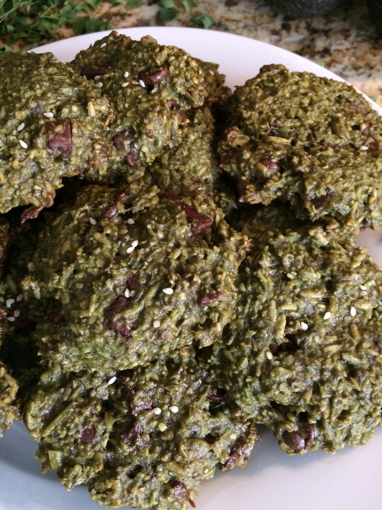 matcha and moringa moring cookies - No BaKe -