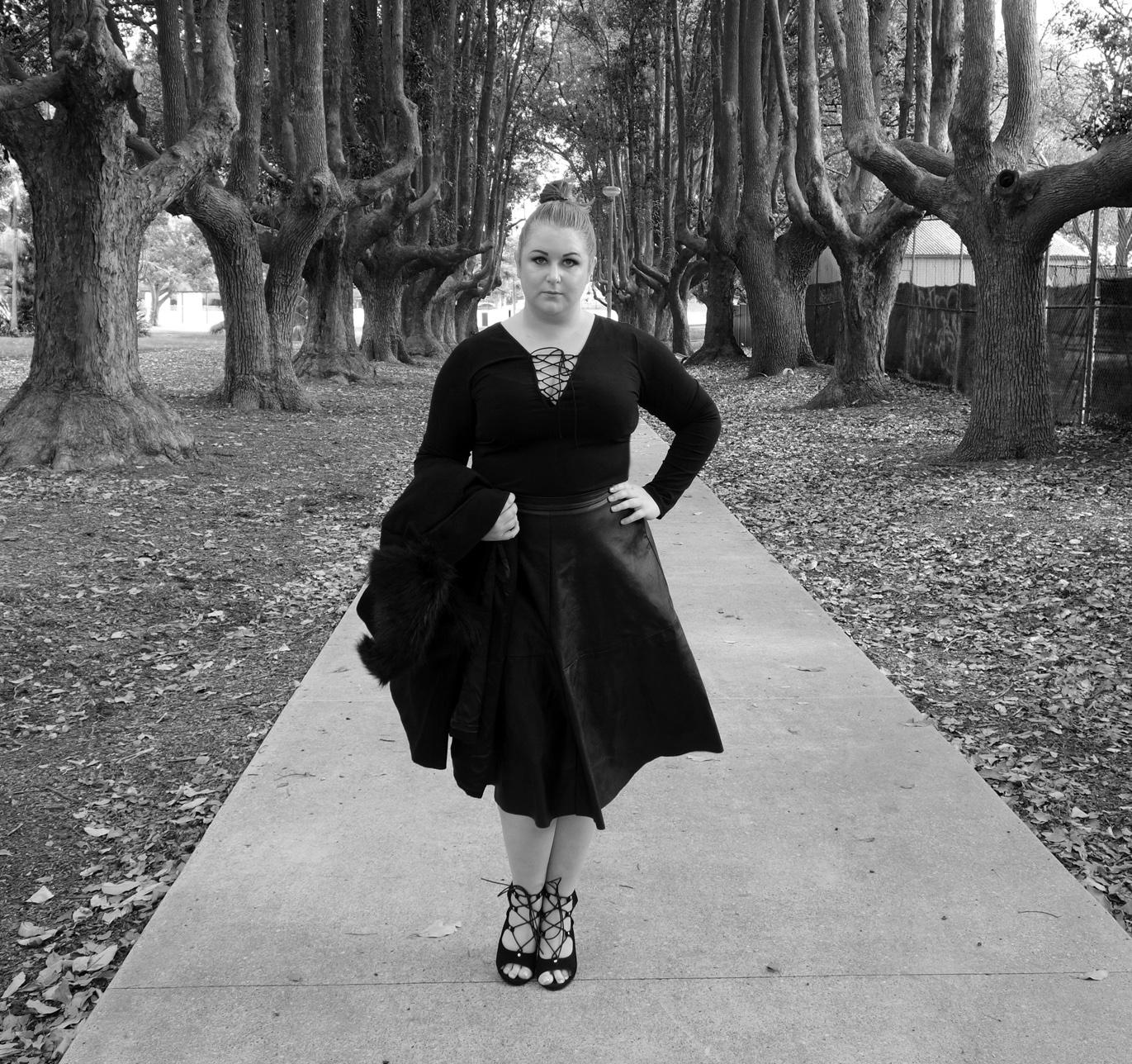 Marisa Robinson Makeup Artist City Chic Modern Abstract Plus Size Fashion