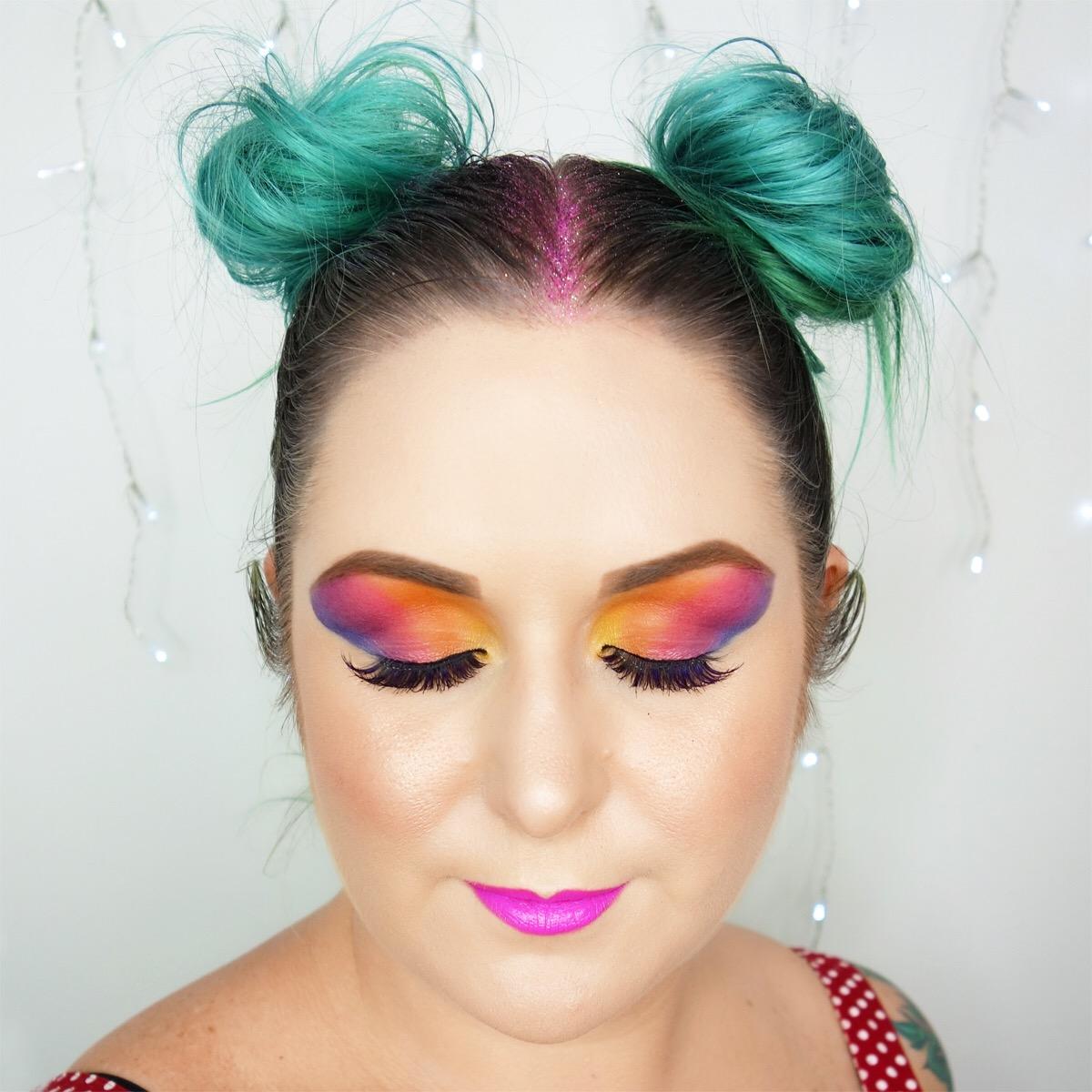 Marisa Robinson Makeup Artist Halloween Glam Rainbow Brite