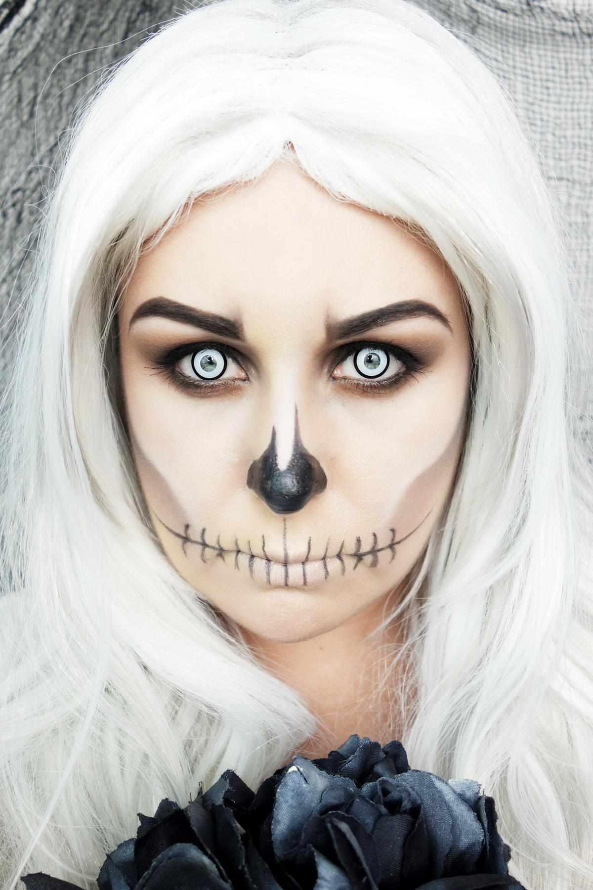 Marisa Robinson Makeup Artist Halloween Tutorial Skeleton Bride