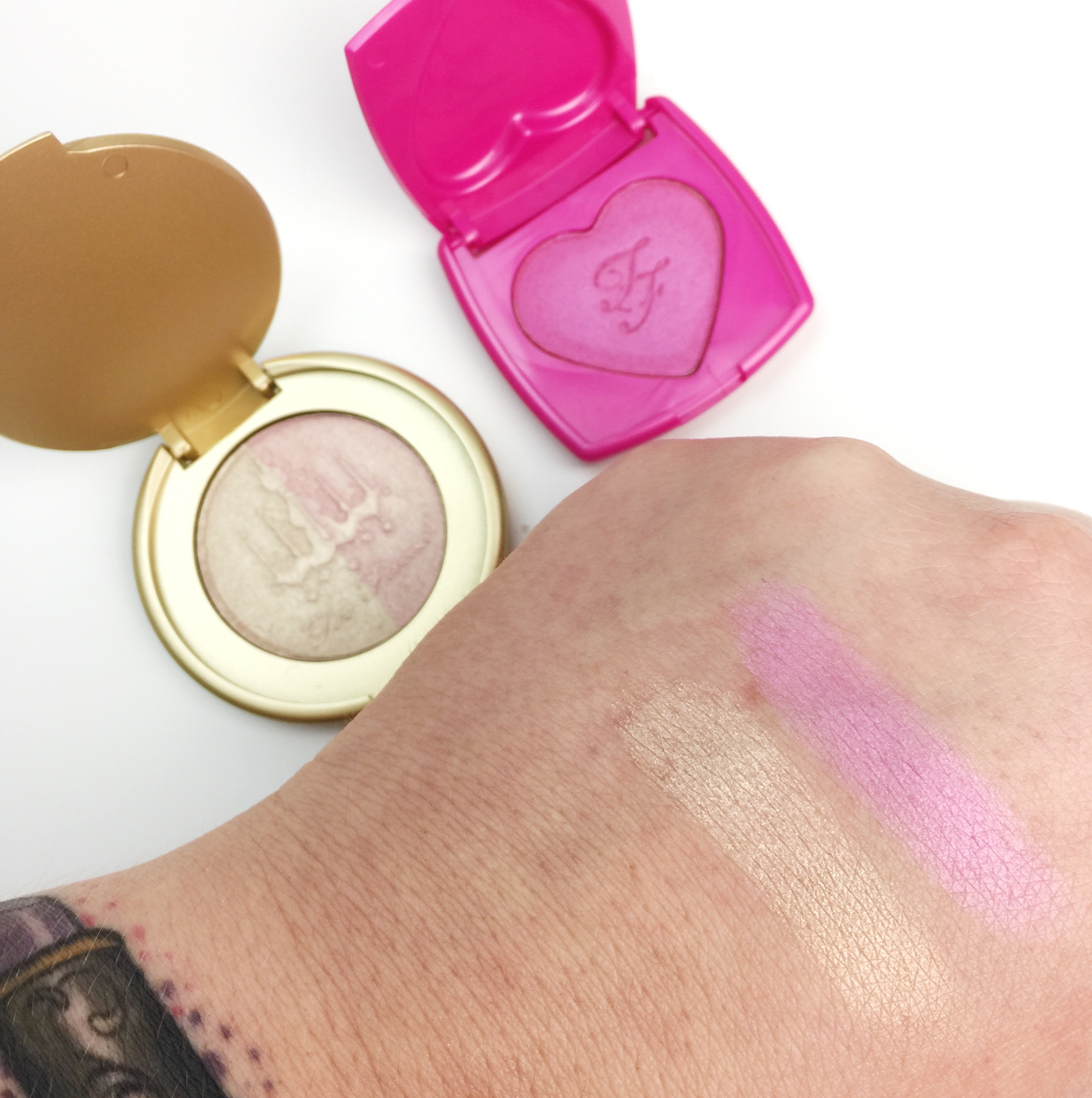 Believe The Hype: Too Faced Better Together Collection Swatches - Artificial Light