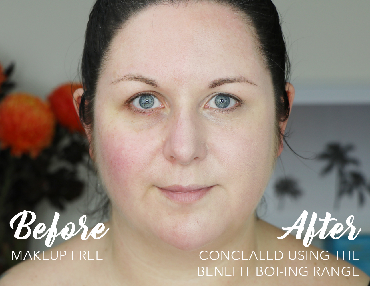Benefit Cosmetics Boi-ing Concealer Before and After