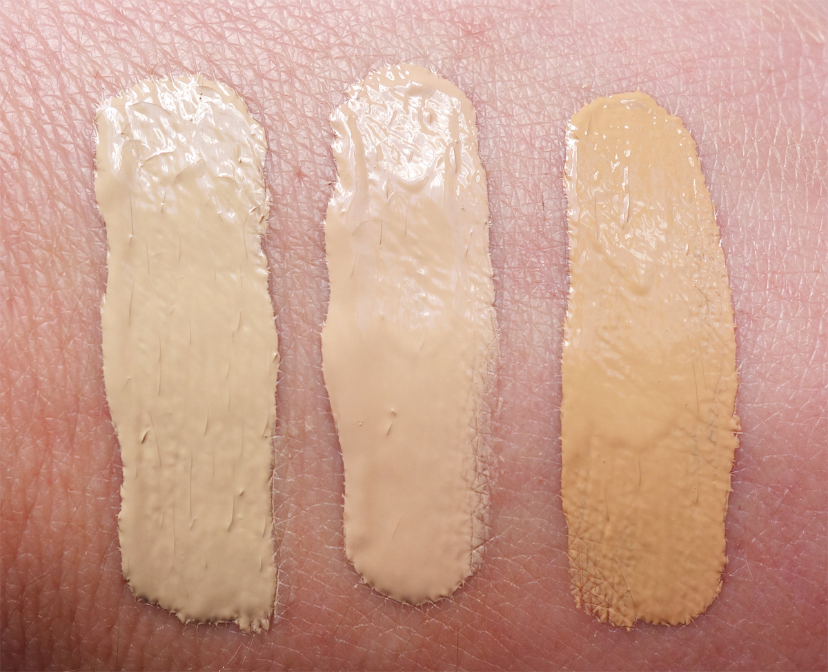 Designer Brands Luminous Hydrating Foundation Swatches