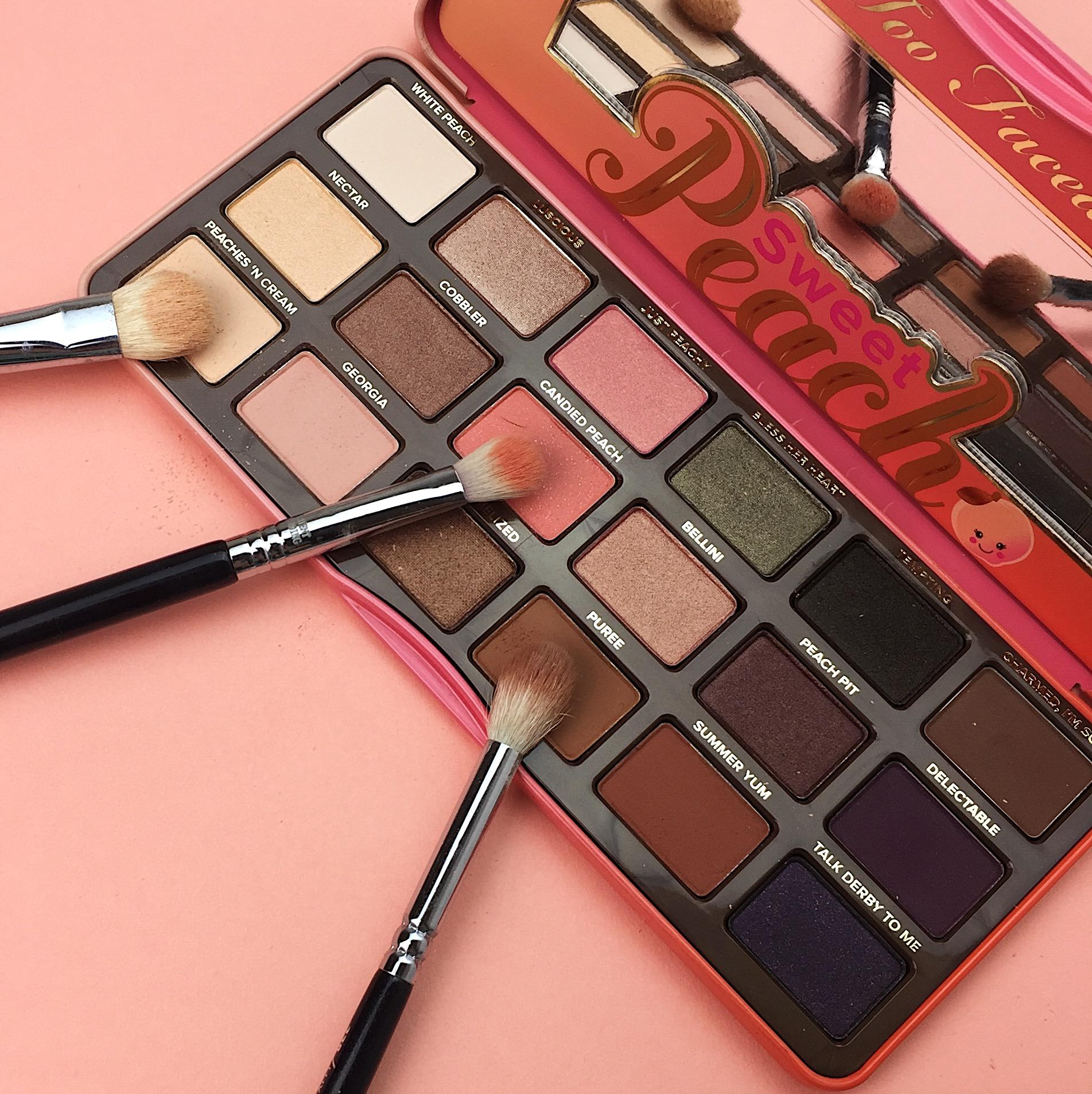 Marisa Robinson Beauty Peach Palettes Too Faced