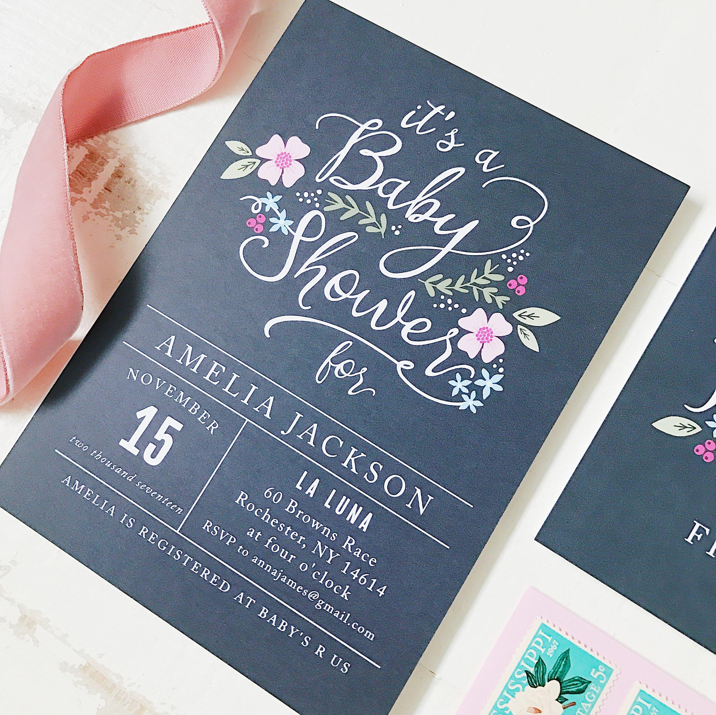 Basic Invite Baby Shower Invitation