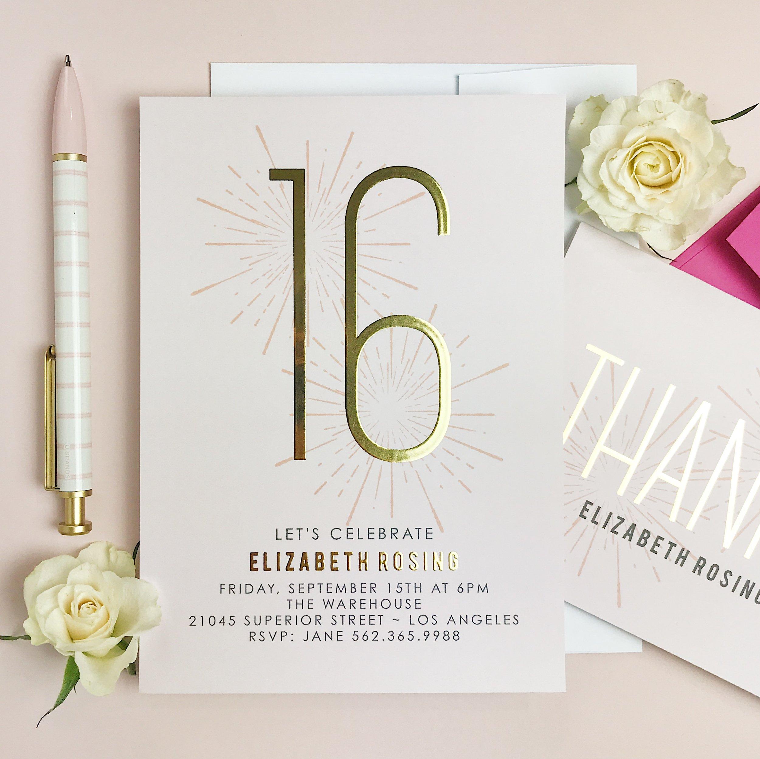 Basic Invite Birthday Invitation