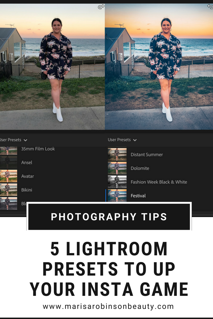 5 Lightroom Presets To Up Your Insta Game