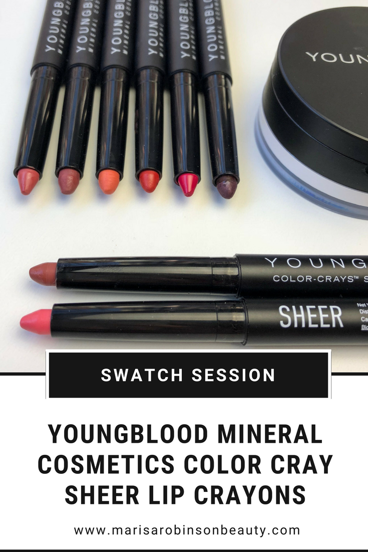 Youngblood Mineral Cosmetics SHEER Lip Crayons