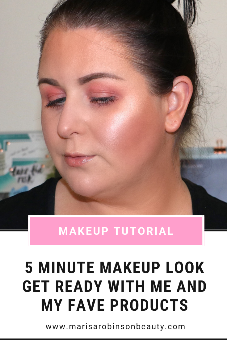 5 Minute Makeup Look Marisa Robinson Beauty