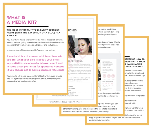 Bloggers Guide To Making A Media Kit eBook Sample pages
