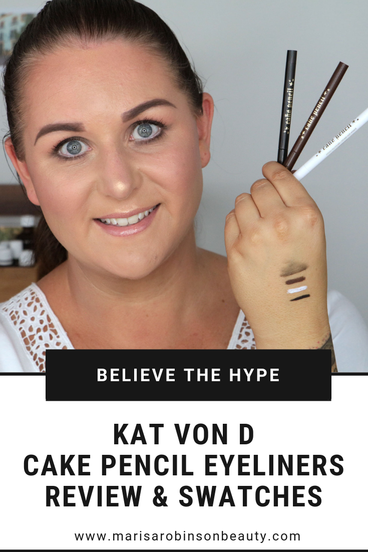 Kat Von D Cake Pencil Eyeliner Review and Swatches