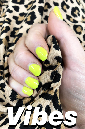 Opallac Gel Polish - Intoxicated - Neon Yellow Nails