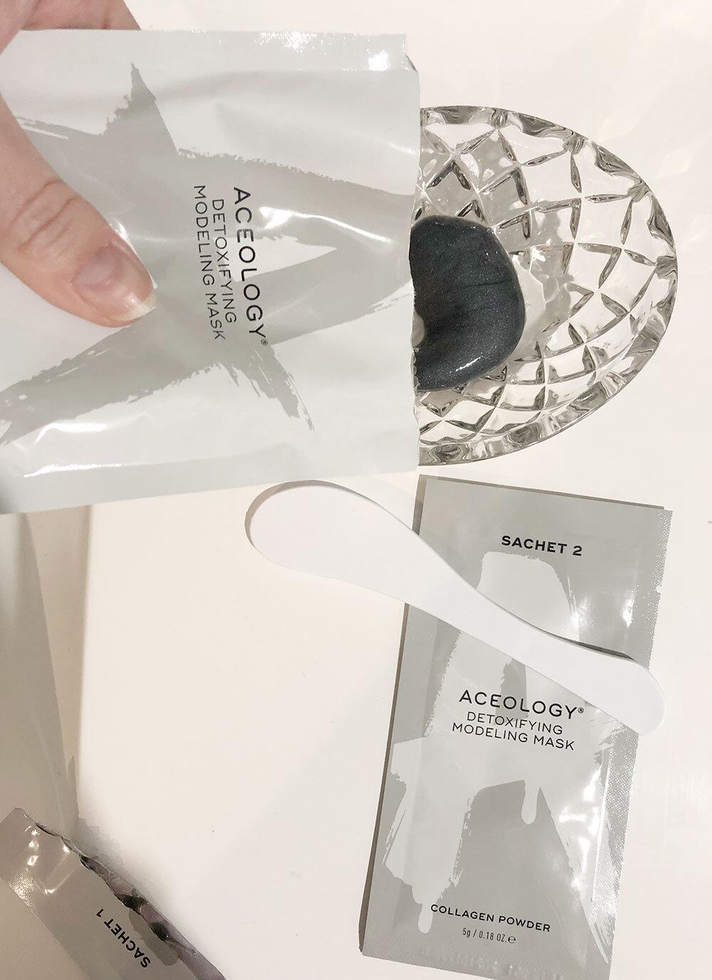 Aceology Detoxifying Modeling Mask Review - Step 1
