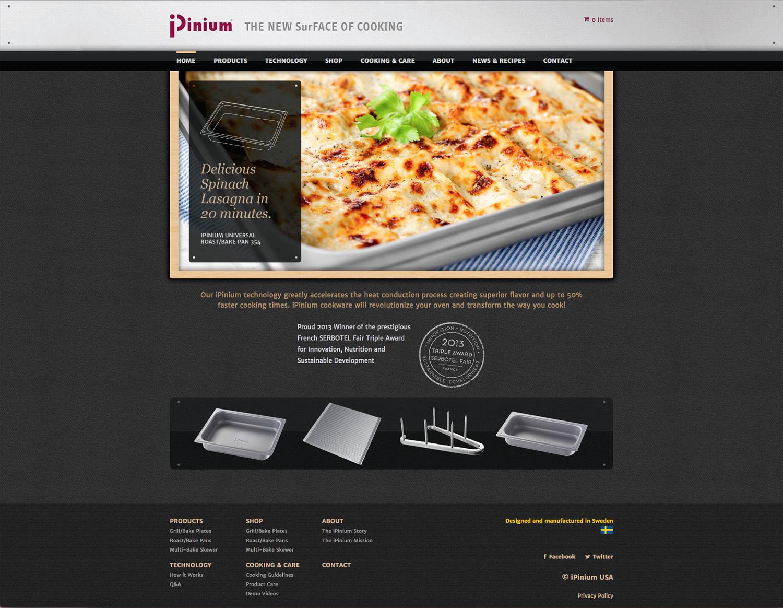 iPinium Home page