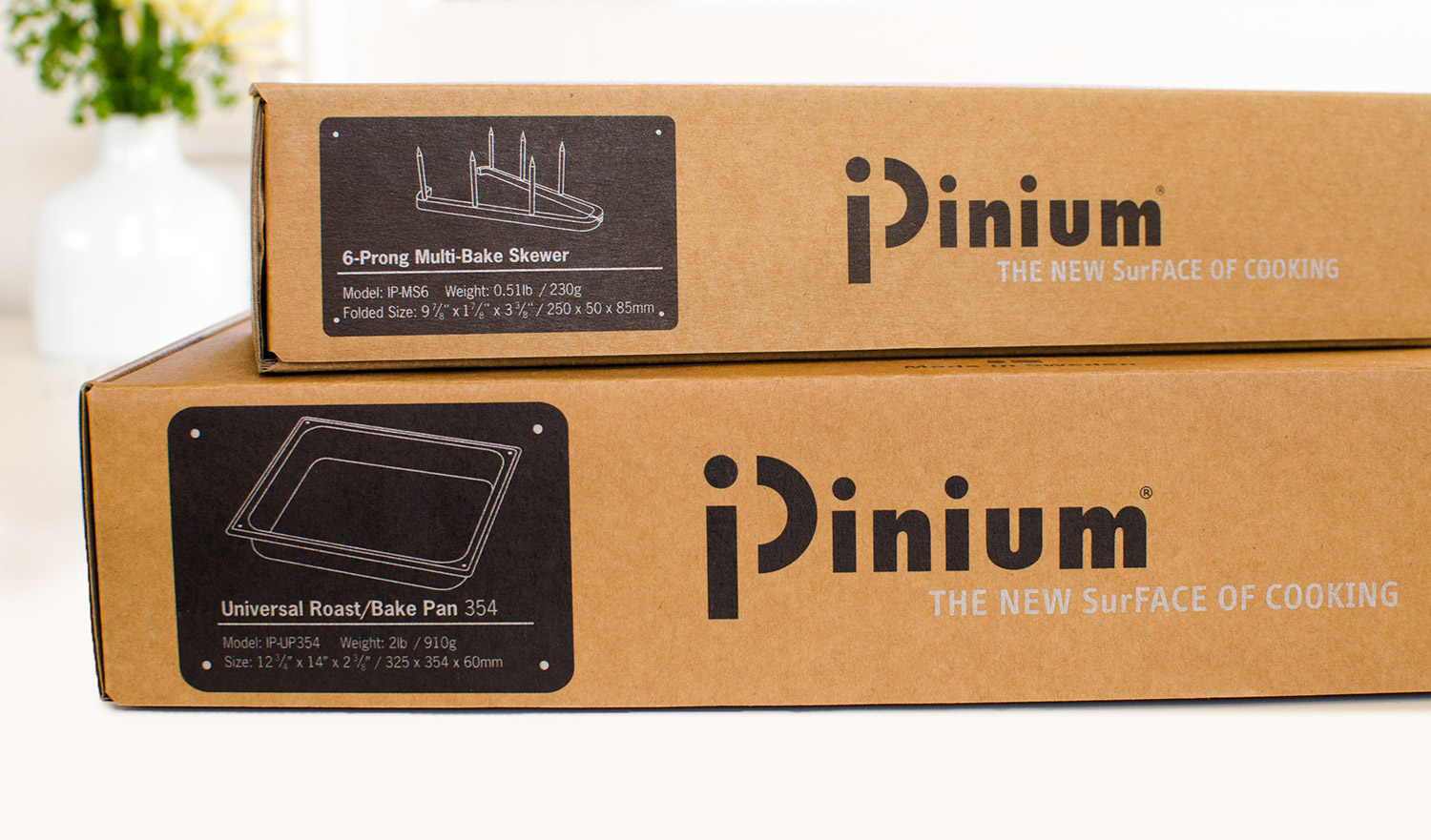 Packaging with kraft board, black and silver