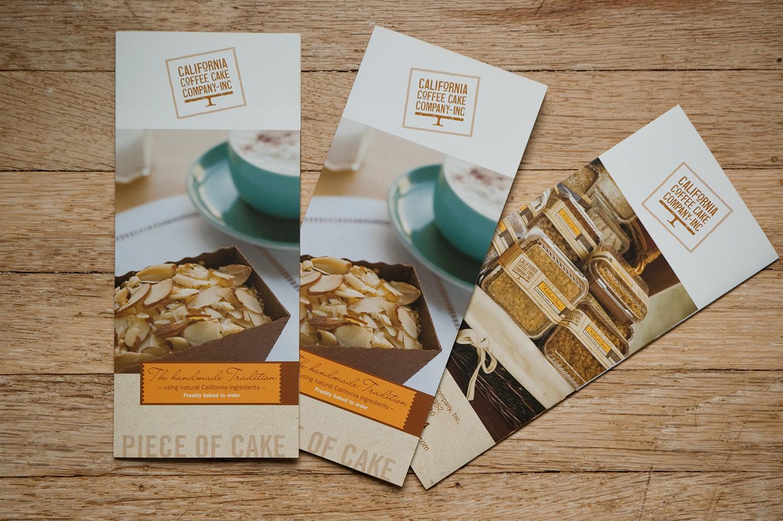 Brochure for California Coffee Cake Co.
