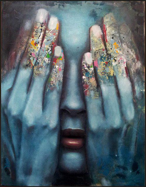 blue hands photo23