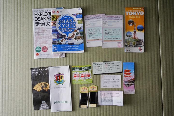 JR Pass yang dibeli di Tripvisto.com dan tiket atraksi yang saya harap bisa dibeli di website yang sama