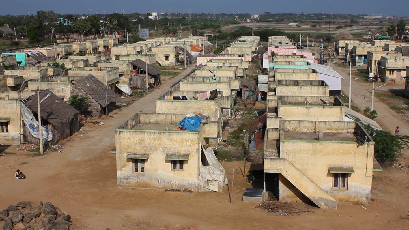 "Christoph Draeger & Heidrun Holzfeind, image from    ""Tsunami Architecture""  (Tagapattinam, Tamil Nadu, 2012)"