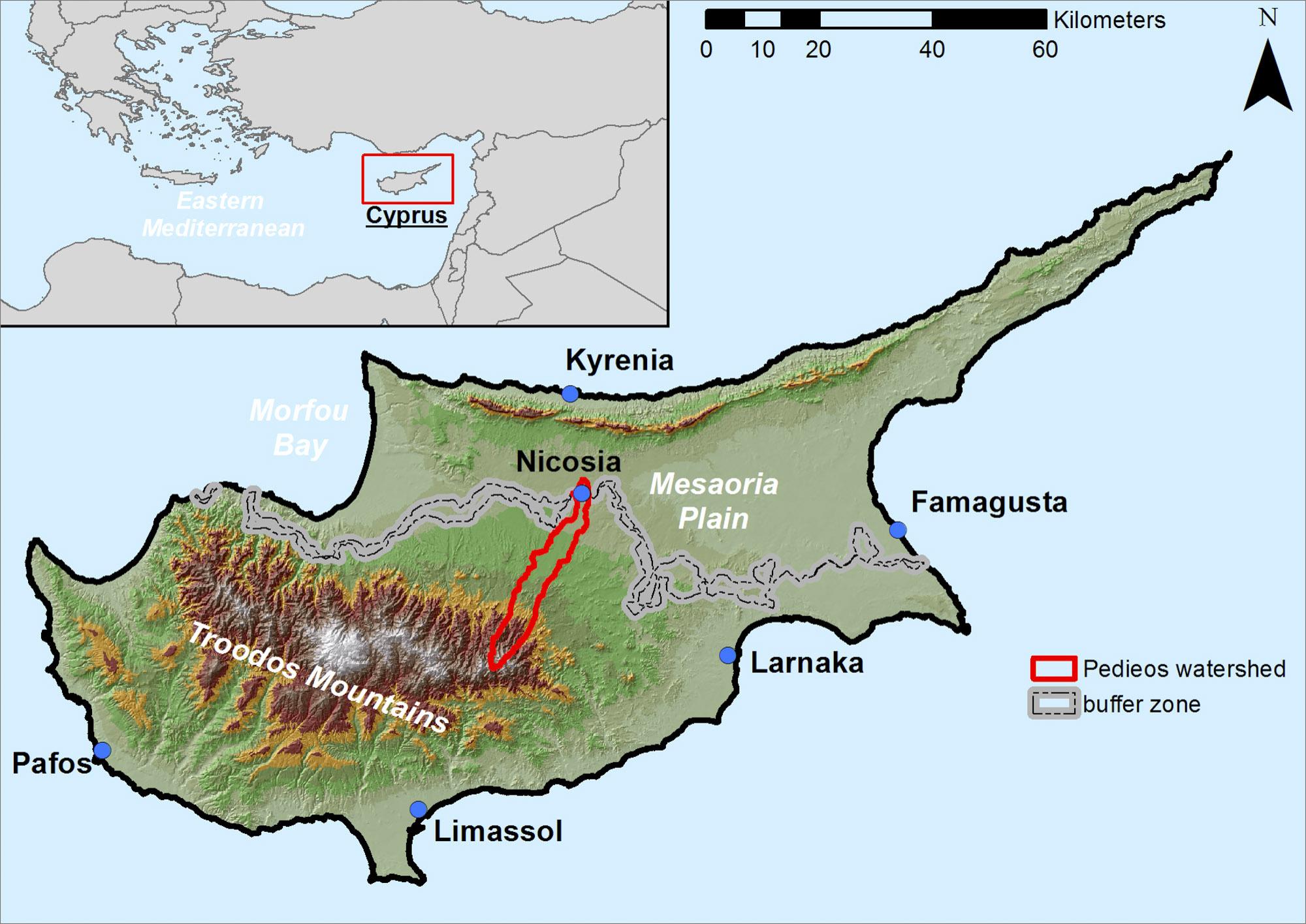 Pedieos Watershed /Source: The Cyprus Institute (EEWRC)