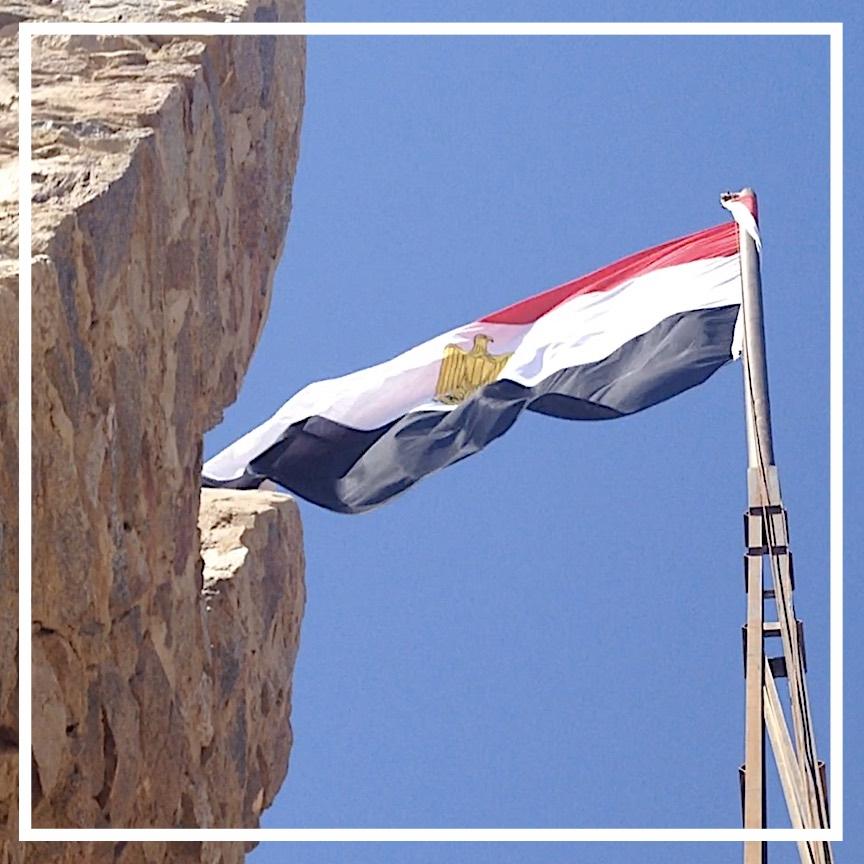 Flag at the Salahuddin Citadel, Taba, S. Sinai