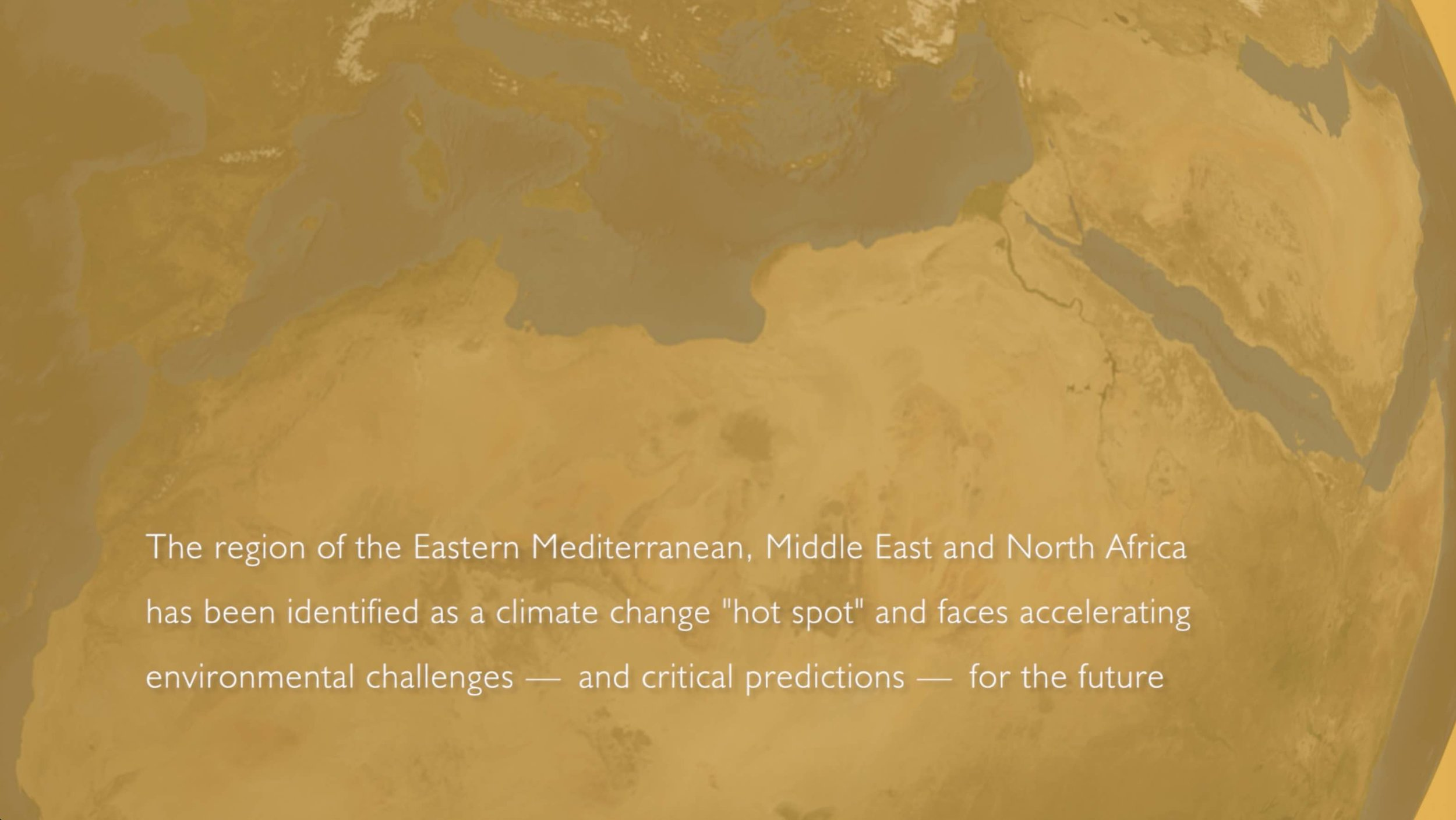 ...the region's climate change challenges