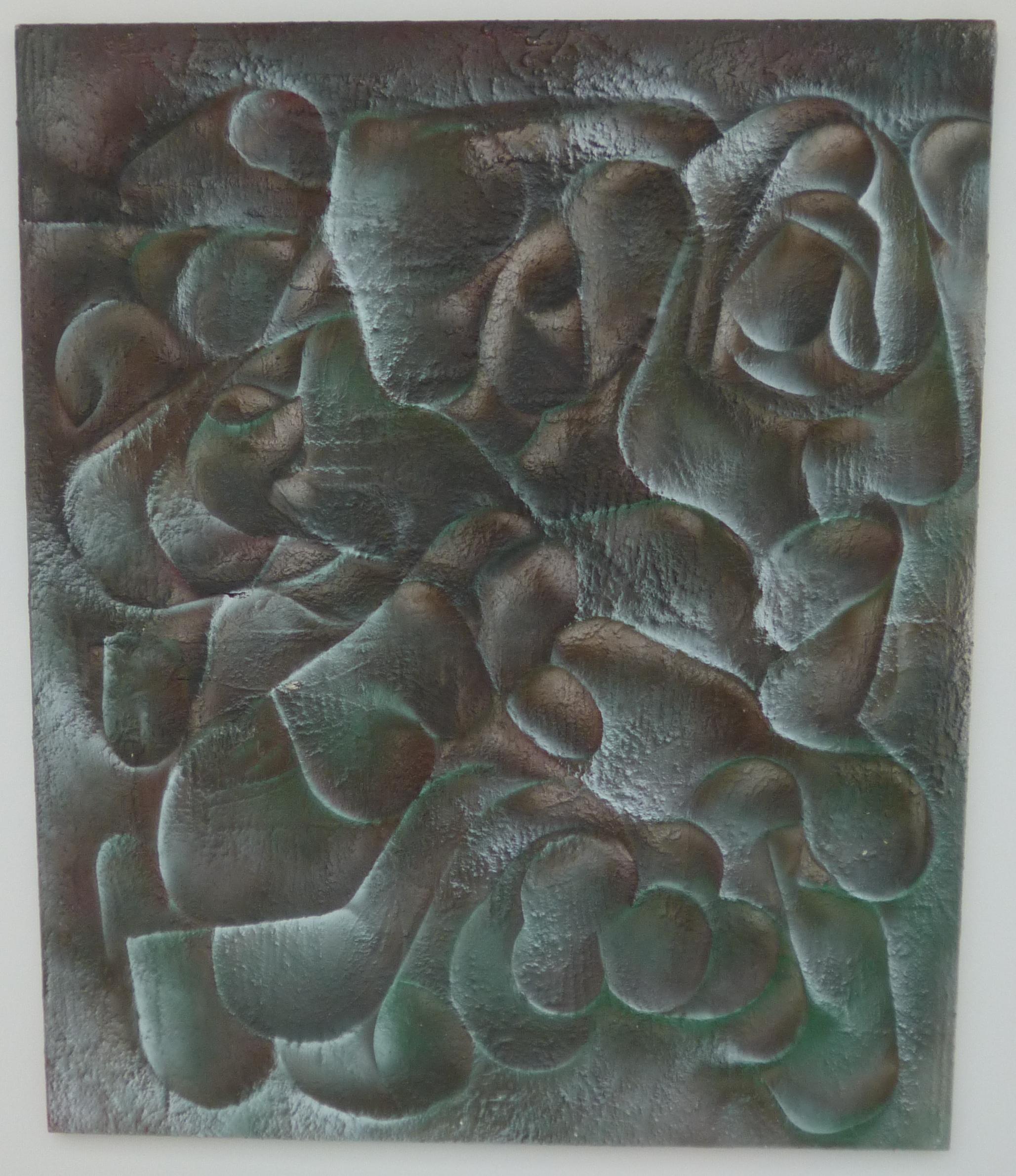 13.Labyrint srdcí a ráj srdce, 2014, kombinovaná technika, 100 x 120