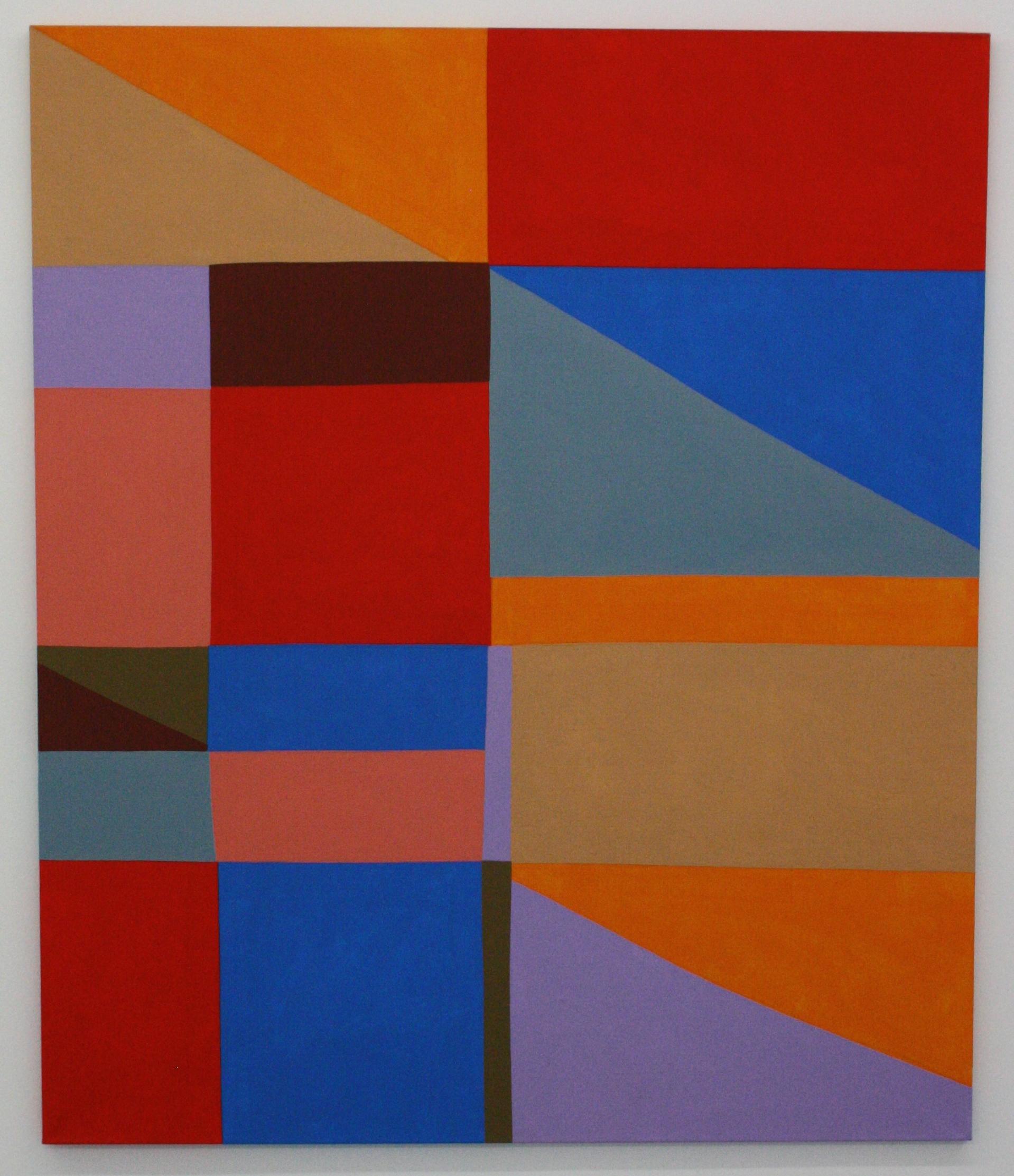 Stanislav Diviš, Barevná geometrie č. 16, 2013/IV, 135 x 115 cm, acr. pl.