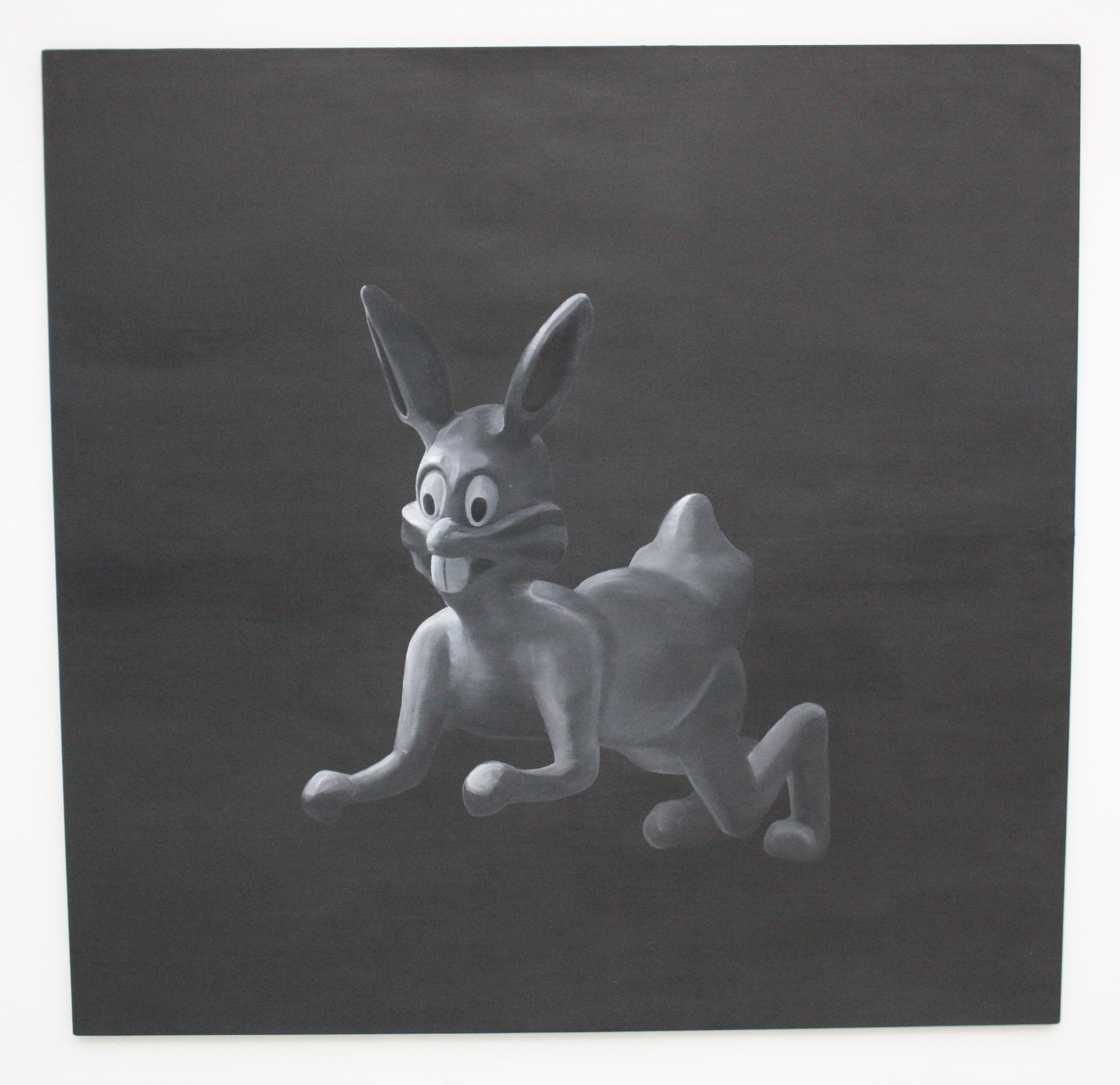 Petr Nikl, Zajíc, 2012, 200 x 195 cm, olej na pl.