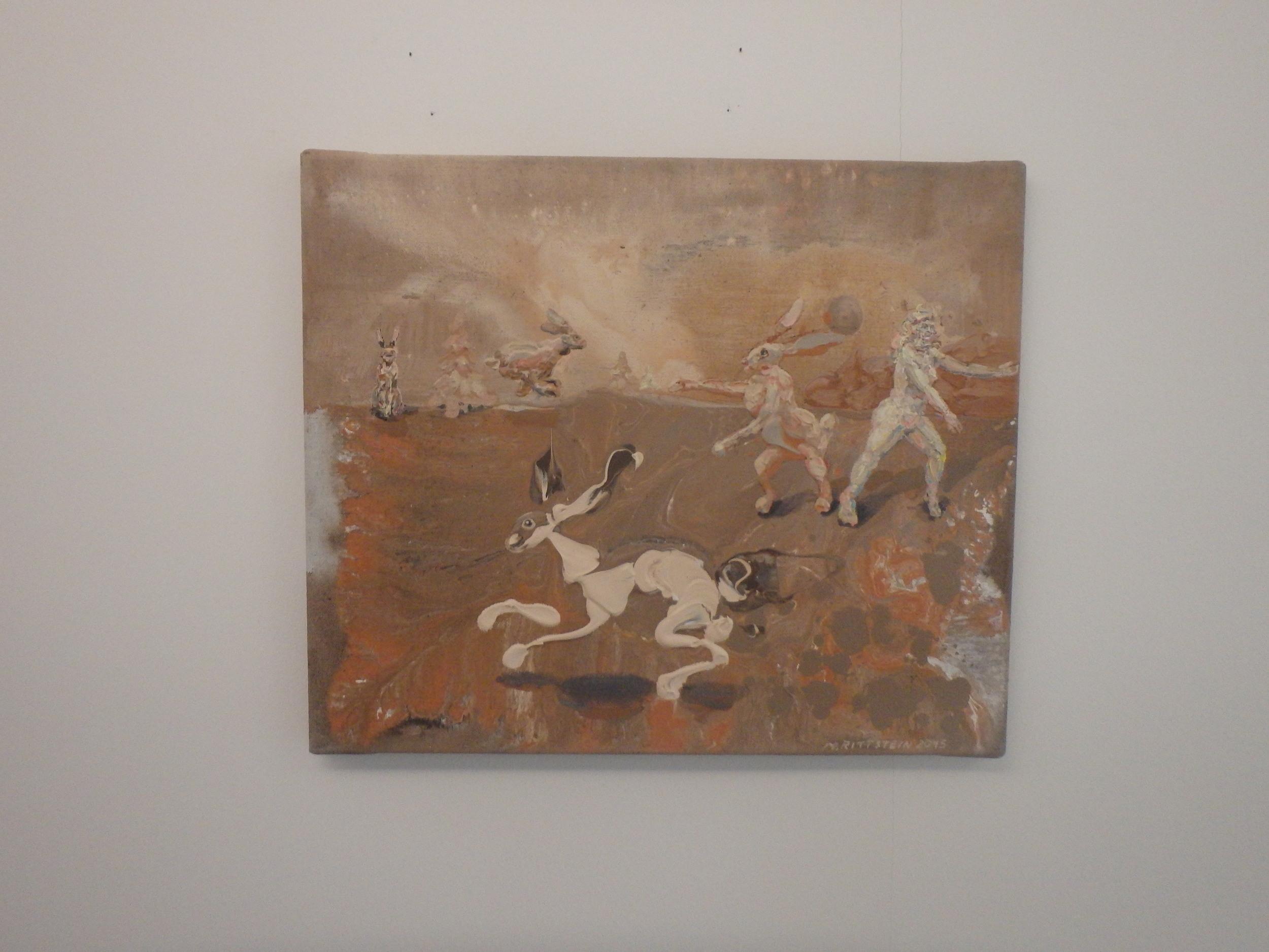 Michael Rittstein, Kurzy začínají na podzim (obvykle), 2015, plátno, akryl 60 x 50 cm