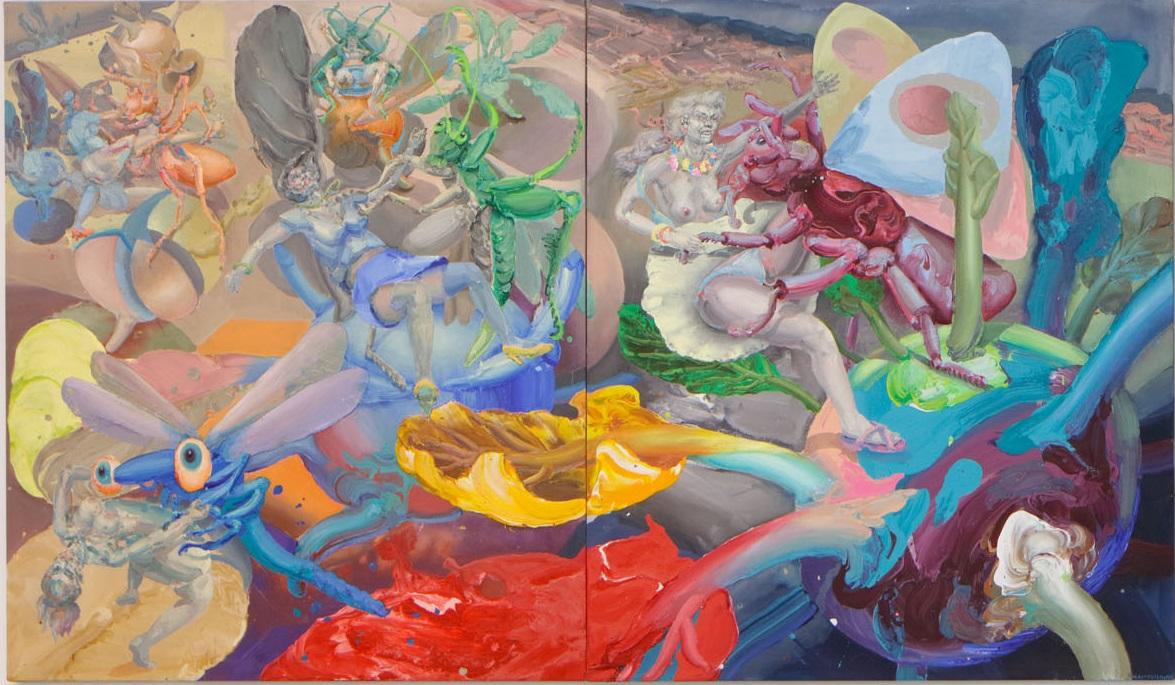Michael Rittstein, Na Kedlubně B, 2015, plátno, akryl, 190 x 220 cm    Michael Rittstein, Na Kedlubně A, 2015, plátno, akryl, 190 x 220 cm