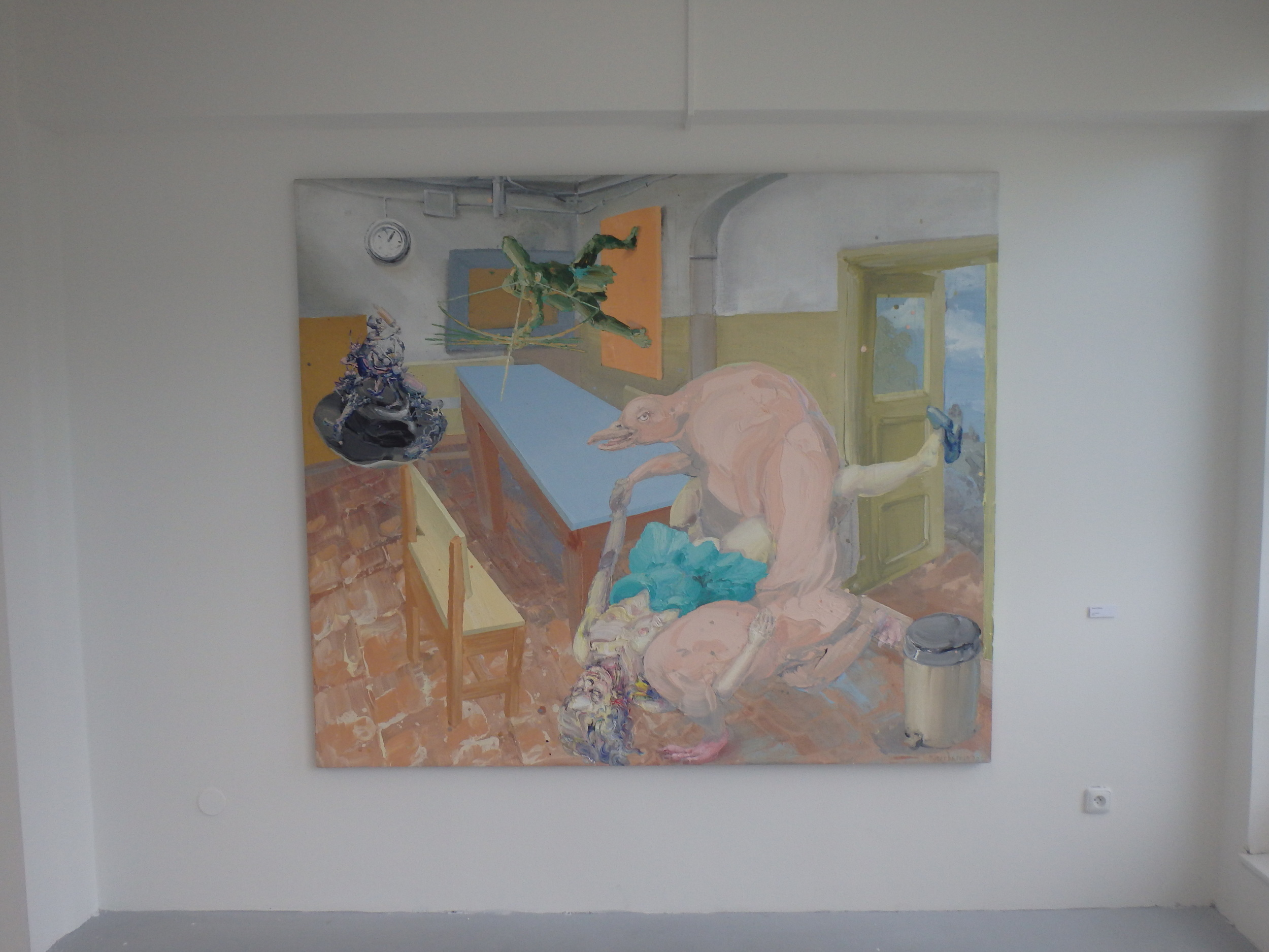 Michael Rittstein, Lysý Pinguin, 2012, plátno, akryl, 180 x 210 cm